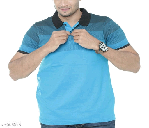 PRIGAG- POLO TSHIRT -BLUE-NECK